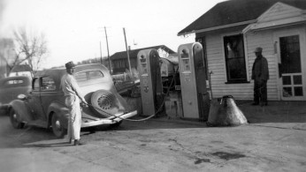 Eddie Meinhardt at Gas Station in Paxico, Kansas
