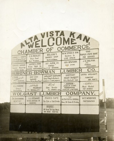 Alta Vista Ball Park Scoreboard Sign