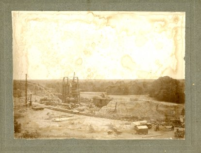 The rock crusher and quarry at Alta Vista had a rail line spur that allowed rock to be shipped on the Rock Island railroad.