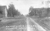 This real photo postcard shows a 1910 view of Main Street looking south from the Post Office at Alta Vista, Kansas. Photo courtesy Michael Stubbs.