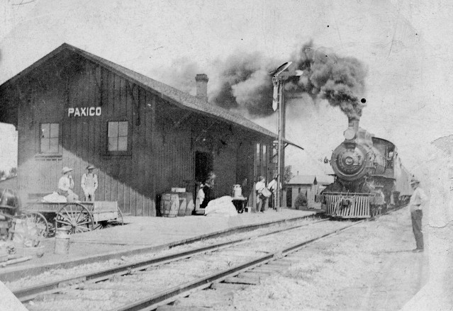 Chicago, Rock Island and Pacific Railway Depot at Paxico, Kansas - c.1900
