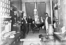 Interior View of Alta Vista Western Union Telegraph Office