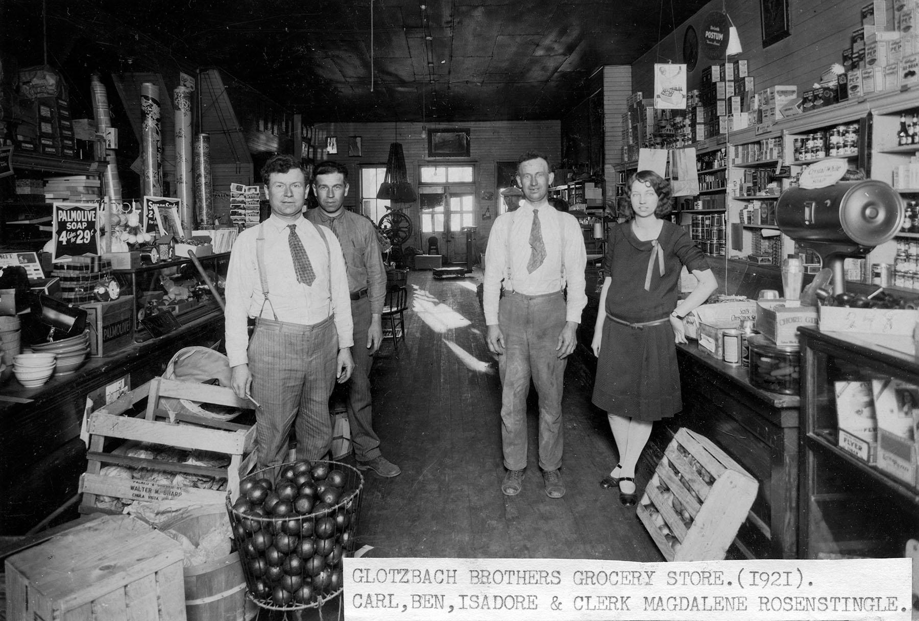 Kansas gray county copeland - Interior View Of The Glotzbach Store Paxico Kansas