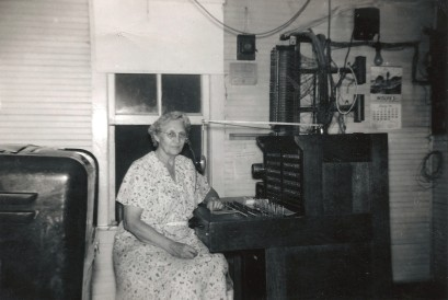 Mable Clark at Maple Hill Telephone Switchboard - 1950s