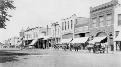Main Street, West Side, Eskridge, Kansas - 1908