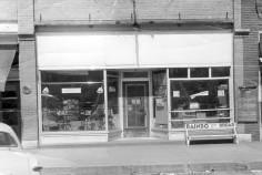 Exterior View, Preston Dunn's Rexall Drug Store, Eskridge, Kansas