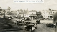 Intersection of Newbury and Main Streets, Paxico, Kansas - c.1910