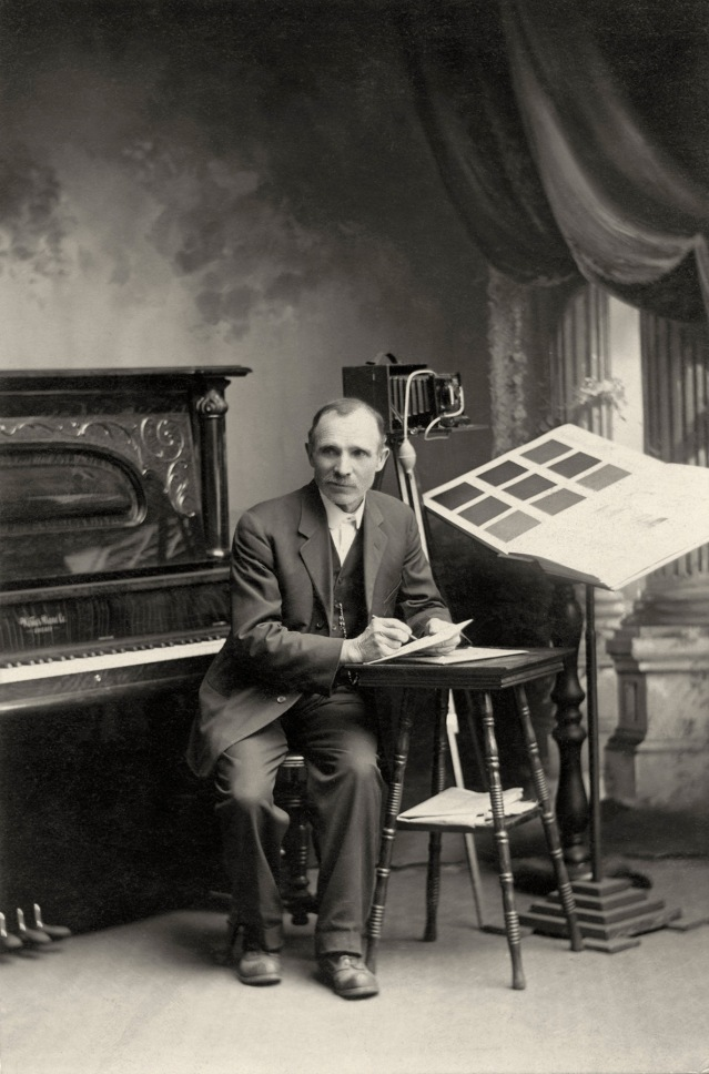 Louis Palenske in his McFarland Studio - 1914