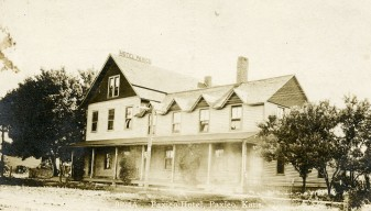 Real Photo Postcard, Hotel Paxico, Paxico, Kansas