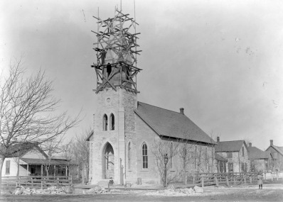 The Evangelical Church was dedicated on May 14, 1882. The church was originally built without a bell tower which was added in 1899.