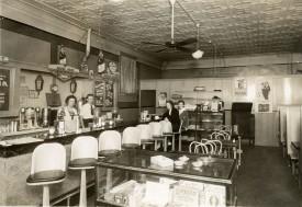 Interior View of an Alma Soda Shop - 1944