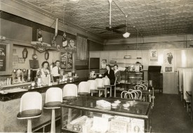 Interior View of an Alma Soda Shop - 1944