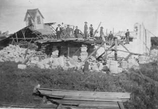 Christian Church Destroyed by Tornado - 1911