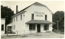 In the 1880s, Alf Sage constructed this building which he called Sommerset Hall and used as a store building. In 1902, the Odd Fellows lodge moved into the upstairs, and the organization purchased the building in 1905.