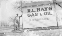 R.L. Hayes stands next to his store and station located on Southwest 21st Street, just east of Auburn Road. Photo courtesy Dorothy Tholen.