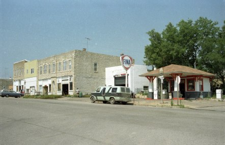 Ralph and Wanda Eberwein operated this Fina Station at 200 Missouri Street in Alma, Kansas when this photo was taken in the early 1980s. Photo courtesy Michael Stubbs.