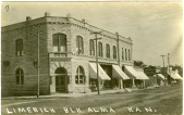 The Limerick Block, seen here in about 1910, housed J.F. Limerick's First National Bank.