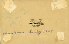 The reverse of the photo bears the stamp of L. Palenske, Photographer, Bookseller & Stationer, Alma, Kansas.