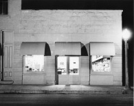 This night view of Hendricks Hardware in Alma, Kansas was taken in the mid-1950s by Alma photographer Armand Atkinson. Photo courtesy Gwen Hendricks