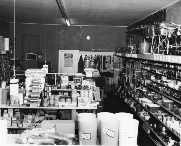 This interior view of Hendricks Hardware was taken by Alma photographer, Armand Atkinson in the middle-1950s. Photo courtesy Gwen Hendricks