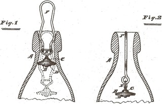 These drawings of the Hutchinson stopper were part of the patent application for the device.