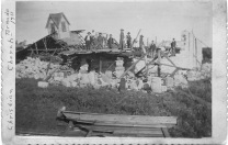 The Christian Church was located at 2nd Avenue and Maple Street, just west of the Eskridge Public School. The church was demolished by the tornadic winds.