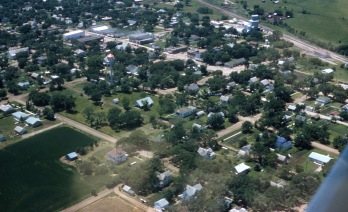 Charles Herman photographed Alta Vista from the air in this view from the 1960s.