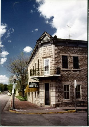 Alma photographer Charles Herman took this photo of the Alma Hotel in the early 1970s.