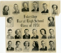 Eskridge Rural High School, Class of 1951