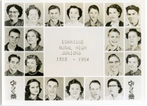 Eskridge Rural High School, Junior Class, 1953-1954