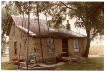 Rear view, Slim Sargent's home, Dover, Kansas, summer 1984