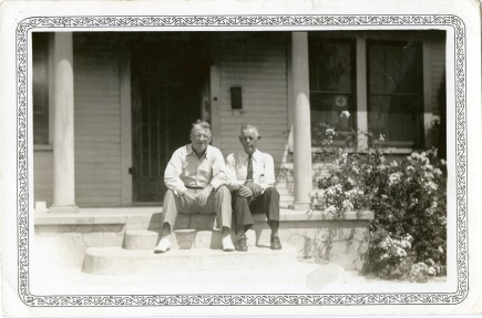 Frank Frost, left, was the longtime owned and editor of the Eskridge Independent newspaper. Frost was also the leading proponent for the construction of Lake Wabaunsee.