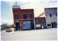This view of the Waugh Building, 123 Main Street in Eskridge, Kansas dates from about 2000.