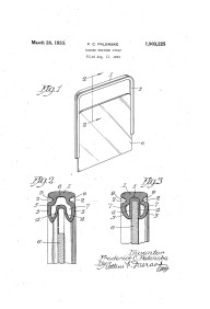 This United States Patent, dated March 28, 1933, shows a rubber weather stripping design for windows.